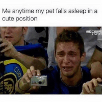 Cute, Memes, and Live: Me anytime my pet falls asleep in a  cute position  MOC 25  LIVE ND 128 gigs later...