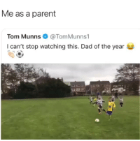 "Dad, Ironic, and Game: Me as a parent  Tom Munns @TomMunns1  I can't stop watching this. Dad of the year ""It's just a game, Focker!"""