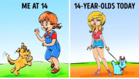 Girls, Guess, and Today: ME AT 14  14-YEAR-OLDS TODAY  OBEY