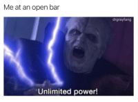 unlimited power: Me at an open bar  drgrayfang  Unlimited power!