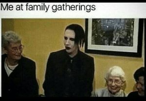 Family, Funny, and Soon...: Me at family gatherings Comming soon
