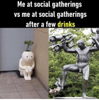 Me after one shot. Follow @9gag to laugh more. 9gag drinking party dancing: Me at social gatherings  vs me at social gatherings  after a few drinks Me after one shot. Follow @9gag to laugh more. 9gag drinking party dancing