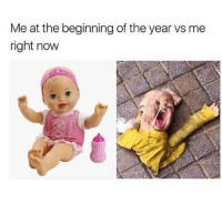 Memes, Run, and 🤖: Me at the beginning of the year vs me  right now Honestly feeling a little run down at this point 😭😩😪(@drinksforgayz)
