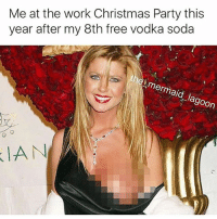 Christmas, Party, and Soda: Me at the work Christmas Party this  year after my 8th free vodka soda  Ia Me tn tbh. ( @the_mermaid_lagoon )