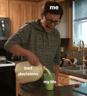 meirl: me  bad  decisions  my life meirl