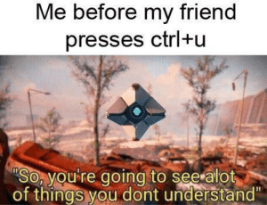 """Reddit, Friend, and You: Me before my friend  presses ctrl+u  SO, you re going to see alot  of things you dont understand"""" Those were the days"""