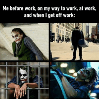 Dank, Work, and Wednesday: Me before work, on my way to work, at work,  and when l get off work: And it's only Wednesday T^T