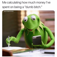 "Be Like, Bitch, and Dumb: Me calculating how much money l've  spent on being a ""dumb bitch.""  @youvegotnomale When you've been listening to 7 rings too much and you're like, I want it so I got it put it on the plastic hoe and they be like, sorry Karen your card's been declined we're gonna have to ask you to leave taco bell. Ugh da fuk"