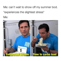 theoffice michaelscott: Me: can't wait to show off my summer bod  *experiences the slightest stress*  Me  @TheNice Guy Cast  The  oesArareness Fun Run  Fettuccine do Time to carbo load theoffice michaelscott