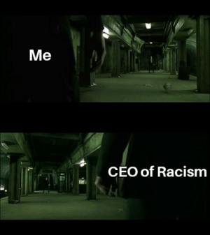 Me CEO of Racism Face the True Evil   Racism Meme on ME.ME