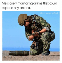 Memes, Pop, and Good: Me closely monitoring drama that could  explode any second  @pop_smoke_official This is getting good 😏