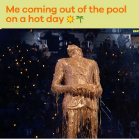 Memes, Kobe, and Pool: Me coming out of the pool  on a hot day  EXIT So refreshing 🏊‍ KidsChoiceSports kobe gold slime