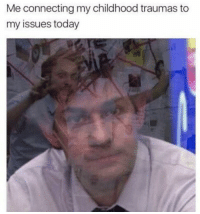 Today, Irl, and Me IRL: Me connecting my childhood traumas to  my issues today me irl