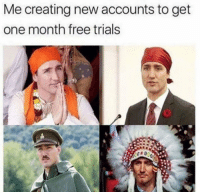 Funny, Free, and Haha: Me creating new accounts to get  one month free trials haha yep https://t.co/sr5g68rIvr