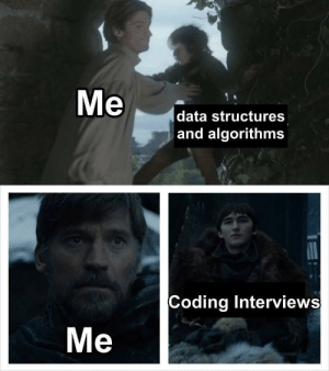 Data, Coding, and All: Me  data structures  and algorithms  Coding Interviews  Me Let me be a lesson to you all