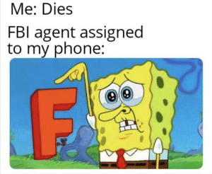 Phone, Old, and Friend: Me: Dies  FBl agent assigned  to my phone: Goodbye old friend
