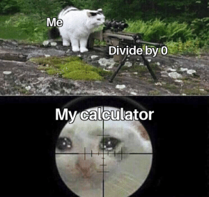 Why master why: Me  Divide by 0  CRONYX  My calculator Why master why