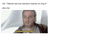 Meme, Memes, and Paint: me: *doesnt see any starwars memes on may 4  also me:  visible confusion] meme is smol because made it in ms paint