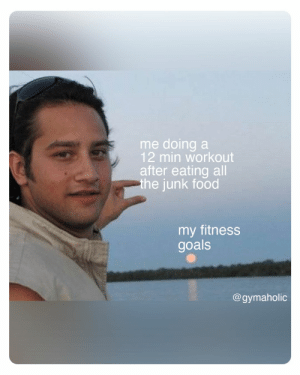 Me doing a 12 min workout after eating all the junk foo vs. my fitness goals.  Gymaholic App: https://www.gymaholic.co  #fitness #motivation #workout #meme #gymaholic: Me doing a 12 min workout after eating all the junk foo vs. my fitness goals.  Gymaholic App: https://www.gymaholic.co  #fitness #motivation #workout #meme #gymaholic