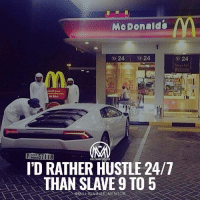 Memes, Taps, and 🤖: Me Donald  24  24  o 24  MILLIONAIRE MENTOR  I'D RATHER HUSTLE 24/7  THAN SLAVE 9 TO 5  @MILLIONAIRE MENTOR *double tap* if you agree✔️ millionairementor