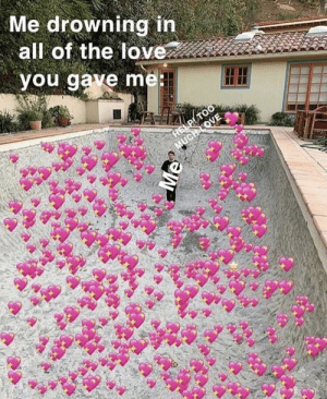 Love, Memes, and Too Much: Me drowning in  all of the love  you gave me  HELP/ TOO  MUCH LOVE https://t.co/S0aP6viHjC
