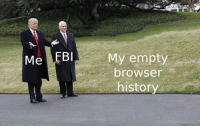 History, Haha, and Browser: Me EB  My empty  browser  history <p>haha gotcha</p>