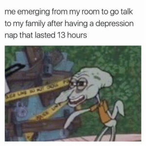 me_irl: me emerging from my room to go talk  to my family after having a depression  nap that lasted 13 hours me_irl