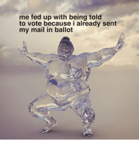 Mail, Relatable, and Fed Up: me fed up with being told  to vote because i already sent  my mail in ballot have you voted already?