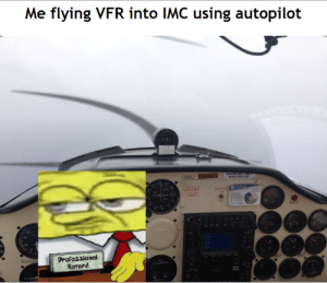 The probable cause of the accident...: Me flying VFR into IMC using autopilot  FASTEN SEAT 883  WHILE SEATED  NNISDL  Drofessional  Ratard The probable cause of the accident...