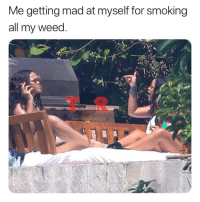 Shade, Smoking, and Weed: Me getting mad at myself for smoking  all my weed.  THE SHADE ROOH For real 😂 @badgalriri