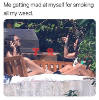 Mad At Myself: Me getting mad at myself for smoking  all my weed  T R  THE SHADE ROOK