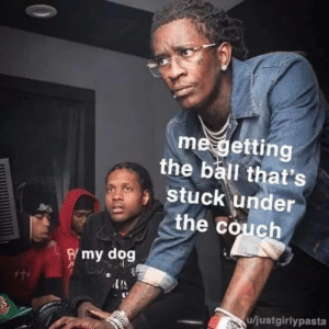 """""""Thank you homan"""" via /r/wholesomememes https://ift.tt/2PsMw19: me getting  the ball that's  stuck under  the couch  Rmy dog  u/justgirlypasta """"Thank you homan"""" via /r/wholesomememes https://ift.tt/2PsMw19"""
