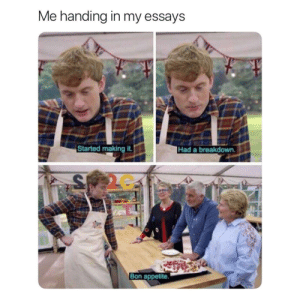 Here's my piece of shit paper by morgannehutch MORE MEMES: Me handing in my essays  Started making it.  Had a breakdown.  2C  Bon appetite. Here's my piece of shit paper by morgannehutch MORE MEMES