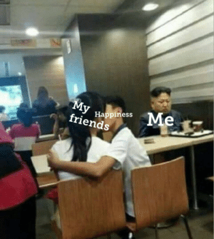 Friends, Meme, and Happiness: Me  Happiness  friends Being left out, everyones done it! So here it is in meme form! Invest fast, because this is definetly going to make profit!