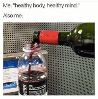 """Gym, Yolo, and Mind: Me: """"healthy body, healthy mind.  Also me:  al coll Rotes  taie dsca bete YOLO 😂😂😂"""