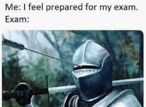 Irl, Me IRL, and For: Me: I feel prepared for my exam.  Exam: me_irl
