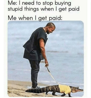 meirl: Me: I need to stop buying  stupid things when I get paid  Me when I get paid: meirl