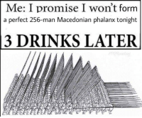 "Target, Tumblr, and Blog: Me: I promise I won't form  a perfect 256-man Macedonian phalanx tonight  3 DRINKS LATER <p><a href=""http://memehumor.net/post/165146684286/hate-it-when-this-happens"" class=""tumblr_blog"" target=""_blank"">memehumor</a>:</p><blockquote><p>Hate It When This Happens!</p></blockquote>"