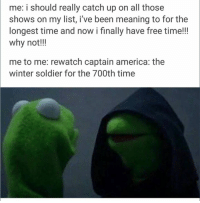 Soldiers, Winter, and Avengers: me: i should really catch up on all those  shows on my list, i've been meaning to for the  longest time and now i finally have free time!!!  why not!!!  me to me: rewatch captain america: the  winter soldier for the 700th time ~ Cap's Best Girl ☆☆