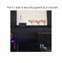 Hhhh,  Concert, and  Guarding: me if was a security guard at a concert hhhh