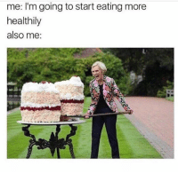 Memes, Best, and Trendy: me: I'm going to start eating more  healthily  also me: Follow @donut for the best memes