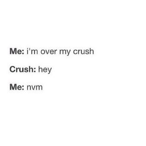 https://iglovequotes.net/: Me: i'm over my crush  Crush: hey  Me: nvm https://iglovequotes.net/