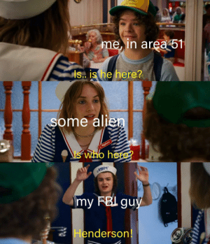 This actually made me warm inside, not OC via /r/wholesomememes https://ift.tt/31rmNsI: me, in area 51  is. is he here?  some alien  Robin  who here?  my FBI guy  Henderson! This actually made me warm inside, not OC via /r/wholesomememes https://ift.tt/31rmNsI