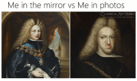 Facebook, Memes, and facebook.com: Me in the mirror vs Me in photos  CLASSICALART MEMES  facebook.com/classicalartmemes