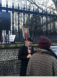 Meme, Ian McKellen, and Women: ME  ip  rypt  ing  M A  STY  AN  UNCA  EET <p>Sir Ian McKellen holding the Picard meme at the Women's March.</p>