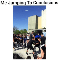 Funny, Lmao, and Jumping: Me Jumping To Conclusions  Fhoodclips  NL Lmao