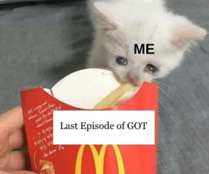 May, All, and  Episode: ME  Last Episode of GO?T All of us on May 19th 😢 https://t.co/ofgsqEpuL2