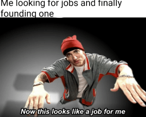workness 100: Me looking for jobs and finally  founding one  Now this looks like a job for me workness 100