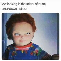 *Ross voice* IM FINE!!!! 😭😭😭(@the_mermaid_lagoon): Me, looking in the mirror after my  breakdown haircut *Ross voice* IM FINE!!!! 😭😭😭(@the_mermaid_lagoon)