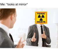 Mirror, Why, and Toxic: Me: *looks at mirror*  TOXIC  WASTE Why the poor lifeguard thou?